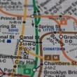 New York subway map — Stockfoto #1706017