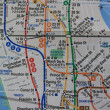 New York subway map - Stock fotografie