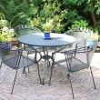 Garden furniture - lawn set - Stock Photo