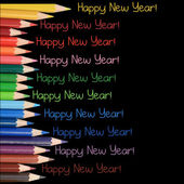 Happy New Year pencils — Stock fotografie