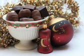 Christmas chocolates — Stock Photo