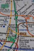 New York subway map — Stock Photo