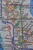 New York subway map — 图库照片
