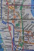 ニューヨークの地下鉄マップ — ストック写真