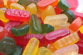 Pile of liquorice, winegums and other ca — Stock Photo