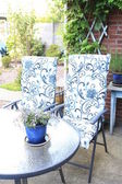 Garden furniture - lawn set — Stock Photo