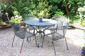 Garden furniture - lawn set — 图库照片
