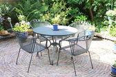 Bahçe mobilyaları - çim seti — Stok fotoğraf