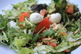 Mozzarella tomato salad — Stock Photo