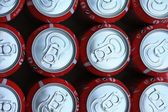 Red soda cans — Stock Photo