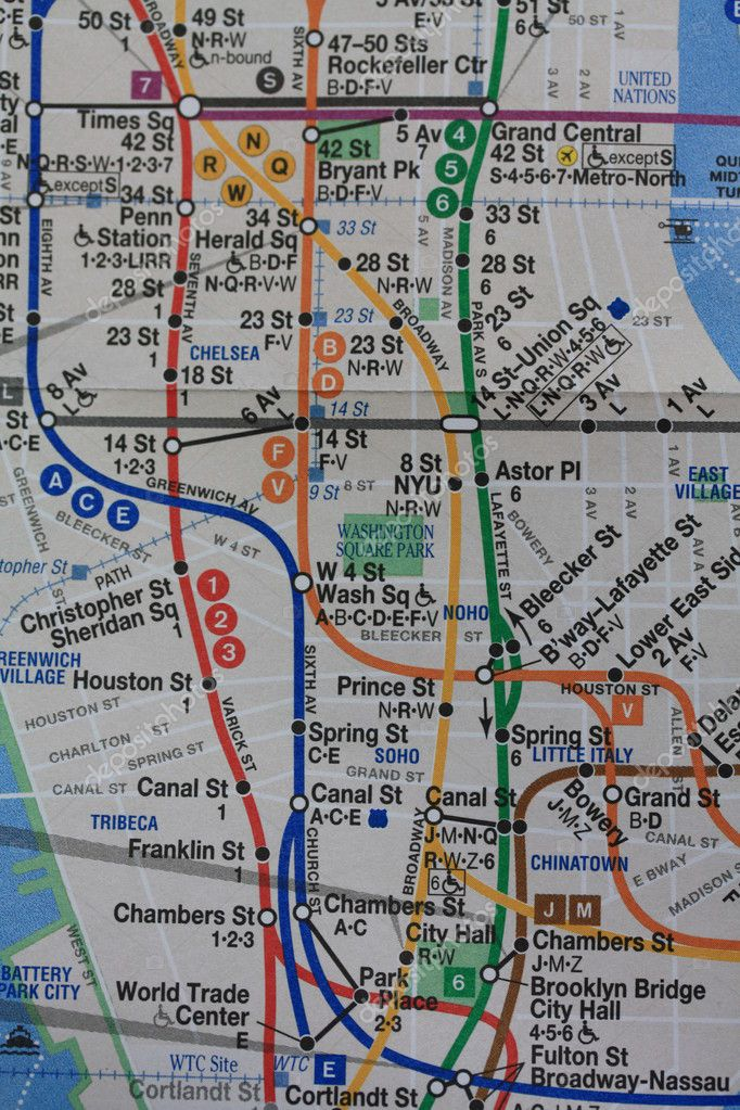 A map of the New York subway — Stock Photo #1706065