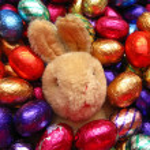 Easter egg bunny — Stock Photo #1713609