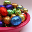 Chocolate easter eggs — Stock Photo #1713614
