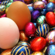 Chocolate easter eggs — Stock Photo #1713669