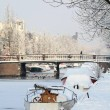 Snow in the city - Stock Photo