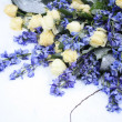 White and blue flower arrangement — Stock Photo #1714294
