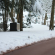 Cemetery in snow — Stock Photo