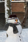 Bonhomme de neige traditionnelle — Photo