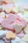 Valentine candy hearts — Stock Photo