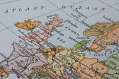 Vintage 1956 map: Europe — Stock Photo