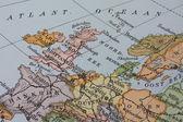 Vintage 1956 map: Europe — Stock Photo
