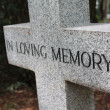 Grave ornament - In loving memory — Stock Photo