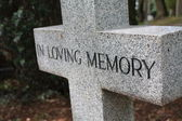 Grave ornament - In loving memory — Fotografia Stock