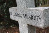 Mezar süsleme içinde sevgi dolu bellek — Stok fotoğraf