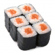 Japanese roll with red fish — Stock Photo