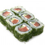 Japanese green roll — Stock Photo