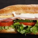 ������, ������: Ham submarin sandwich closeup