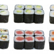 Stock Photo: Japanese rolls assortied
