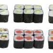 Japanese rolls assortied — Stock Photo