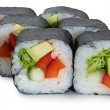 Stock Photo: Japanese roll with avacado