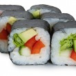 Japanese roll with avacado — Stock Photo