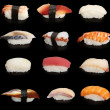 Japanese sushi mix - Stock Photo