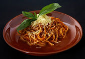Italian pasta with souse baloneze — Stock Photo