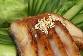 Eel cucumber lettuce — Stock Photo