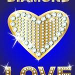 Golden heart diamonds encrusted — Stock Vector #1652339