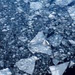 Ice-bound winter river — Stock Photo