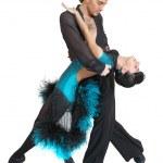 Couple dancers latina style — Stock Photo #1676083