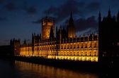 Parliament London UK evening view — Foto Stock