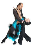 Couple dancers latina style — Stock Photo