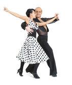 Couple dancers latina style — Stock Photo