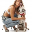 Dalmatian girl — Stock Photo
