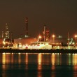 Factory big refinery in night. — Stock Photo
