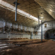 Stock Photo: Abandoned big deserted factory.