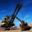 Stock Photo: Old mining big machines backhoe