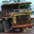 Old large dumper truck - Stock Photo