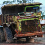 Old large dumper truck — Stock Photo